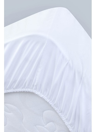 Alla Turca Kapitoneli Sıvı Geçirmez Alez 180X200 Komple Lastikli Beyaz